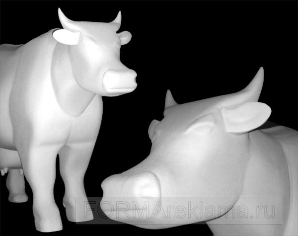 Наружная реклама в Самаре | Полнообъемная корова. Реалистичная копия коровы, предназначенная для разукрашивания (объемная фигура покрыта специальным составом, увеличивающим прочность поверхности изделия и придающий декоративный эффект)