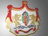 Фото герба размером 1.5 м Самарская региональная общественная организация «Поволжская Гильдия Геральдики» Россия, 443045, г.Самара, ул.Авроры, 181, офис 208. Тел.: 8(846) 224-15-04 Факс: 8(846) 224-15-07 E-mail: samaravsp@mail.ru    От проекта до воплощения – фамильные гербы,  гербы фирм, товарные знаки, логотипы, эмблемы  Вы – интересная личность, желающая подтвердить древность своего рода, знатность происхождения, и Вам есть, что рассказать о себе потомкам, тогда наука геральдика к Вашим услугам.  «Поволжская Гильдия Геральдики» - одна из наиболее современных и благородных организаций, возрождающих и развивающих древние традиции, а конкретнее – традиции геральдики. «Поволжская Гильдия Геральдики» осуществляет: •Квалифицированную помощь по вопросам геральдического дизайна •Региональную и федеральную регистрацию. Геральдический дизайн – возрожденное направление 21 века обеспечит запоминающуюся индивидуальность современному дому! | Наружная реклама в Самаре